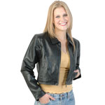 A16 Ladies Short Leather Jacket